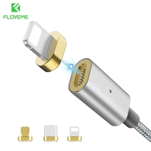FLOVEME 3 in 1 Magnetic Cable Micro USB Type-C Lighting Charging Fast Magnet Charger Cabos Cable For iPhone Samsung Xiaomi USB-C