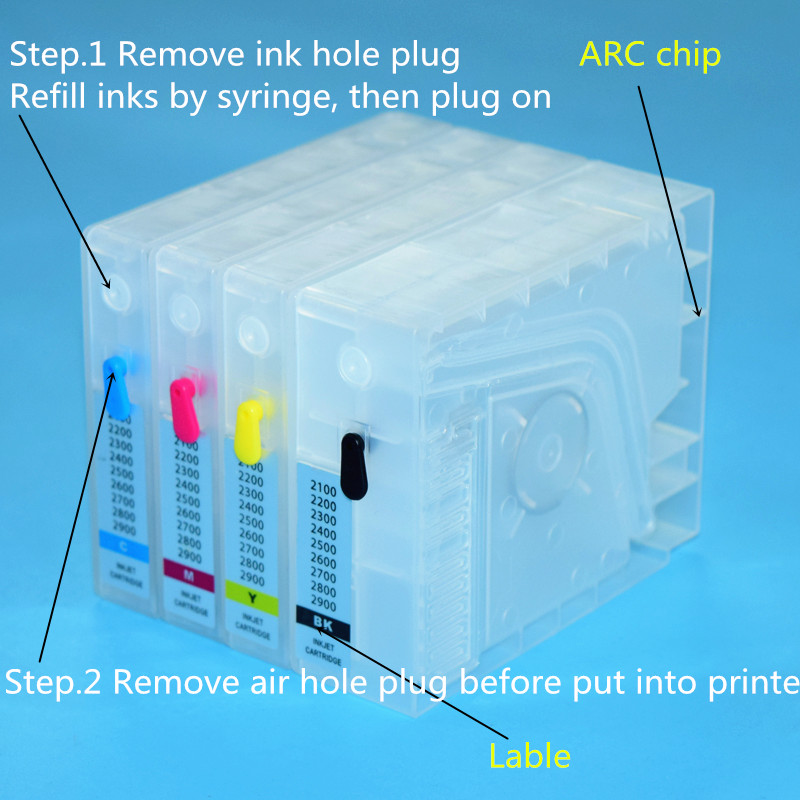 Canon 2100 2200 2300 2400 2500 2600 2700 2800 2900 Refill ink Cartridge With ARC Chip (2)_??