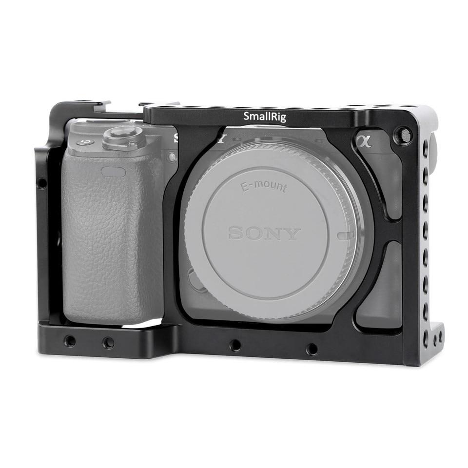 Smallrig Dslr Digicam Cage For Sony Alpha A6300 / For Sony Alpha A6000 / Nex-7 Digicam W/ Shoe Mount For Microphone Flash Gentle