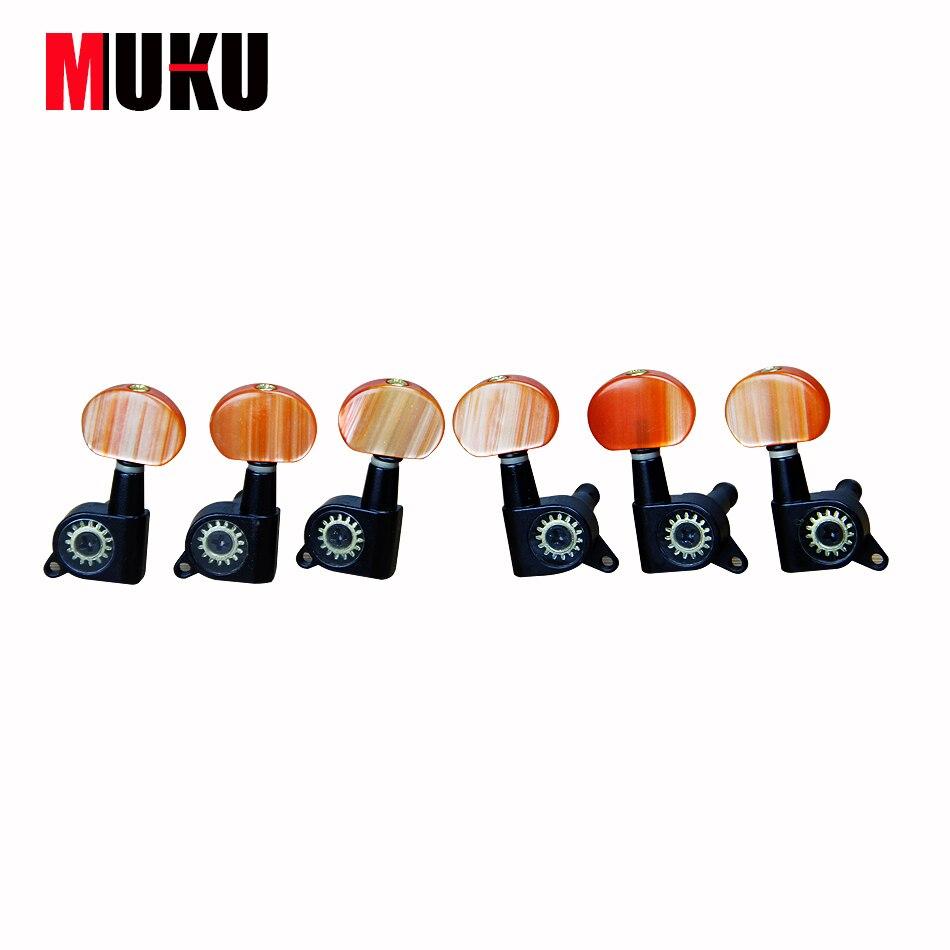MUKU Guitar Tuning Peg Guitar Machine Heads Single silver Locked Machine Head M-01 first locked f5113 print heads