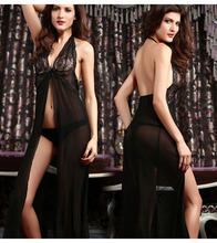 Dressing Gowns For Women For The Sex One Size Perspective Gauze Sexy Women's Dress Sexy Lingerie Women's Sexy Body Long Dress