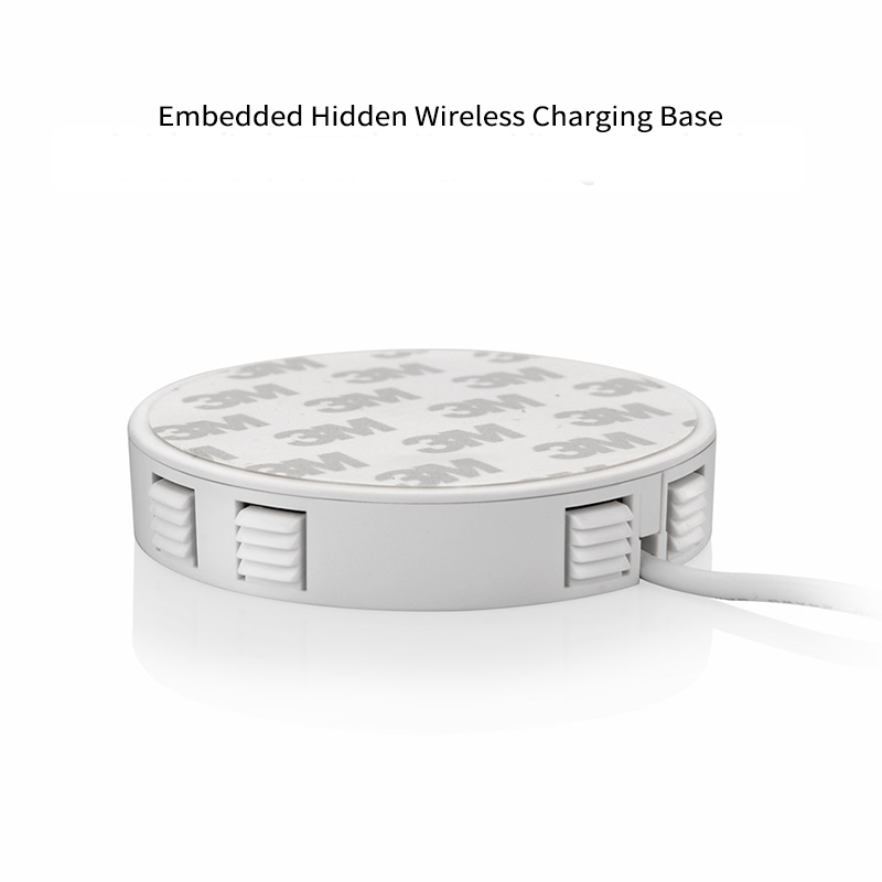 Embedded Wireless Charger for Desktop Hidden Wireless Desktop Furniture QI Wireless Hidden Wireless Charging Base