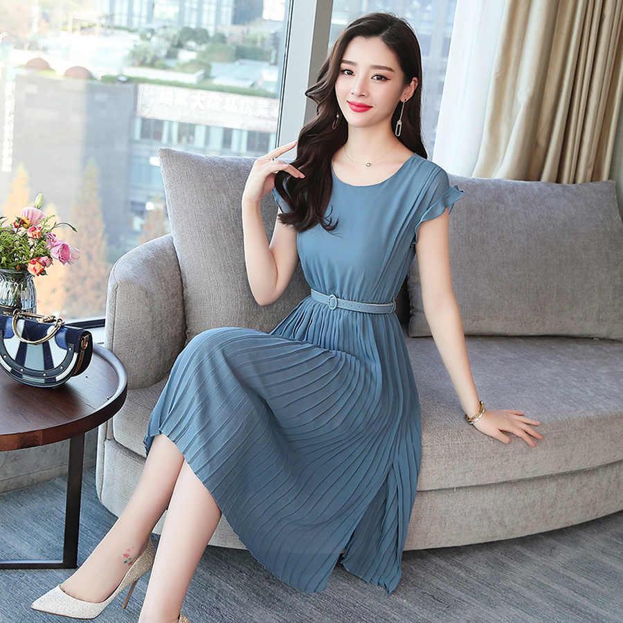 2019 新しい韓国のヴィンテージ自由奔放夏プラスサイズ固体セクシーなサンドレスエレガントな女性ミディボディコン半袖 Vestidos