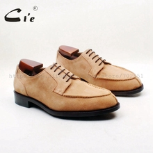 cie Free Shipping Bespoke Handmade Custom Calf Leather Outsole Camel Suede Lace-up Derby Men Shoe Wider Suitable for Fat D231
