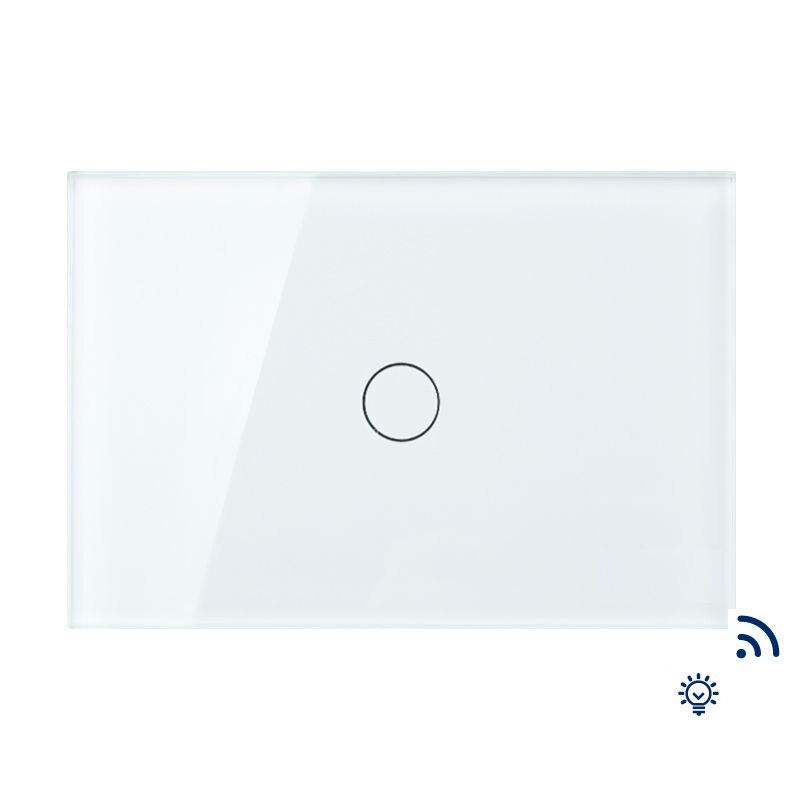Livraison gratuite, AU US Standard mur Touc télécommande et variateur 1 Gang 1 voie, panneau de verre, interrupteur d'écran tactile lumière murale, KT005RUS