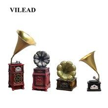 VILEAD 4 Styles Resin Phonograph Figurines Nostalgic European Retro Ornaments Models Creative Home Living Room Decoracion Hogar