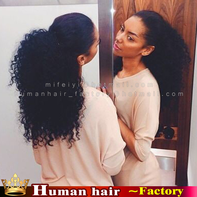 100 brazilian remy wrap around clip real people hair ponytail 100 brazilian remy wrap around clip real people hair ponytail extensions afro drawstring ponytail kinky curly for black woman on aliexpress alibaba pmusecretfo Gallery