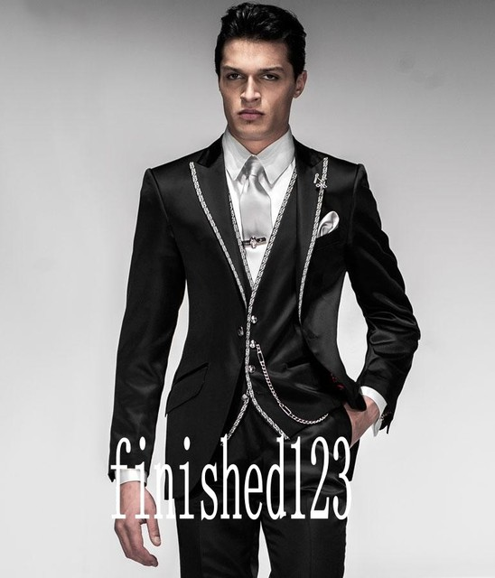 Aliexpress.com : Buy New Arrival One Button Black Groom Tuxedos ...