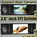 Câmera suporte Traseiro Câmara de Som Do Carro MP3 Player MP4 12 V Áudio Do Carro de Vídeo MP5 Transmissor FM USB/SD/MMC/1 Din In-Dash/Controle Remoto