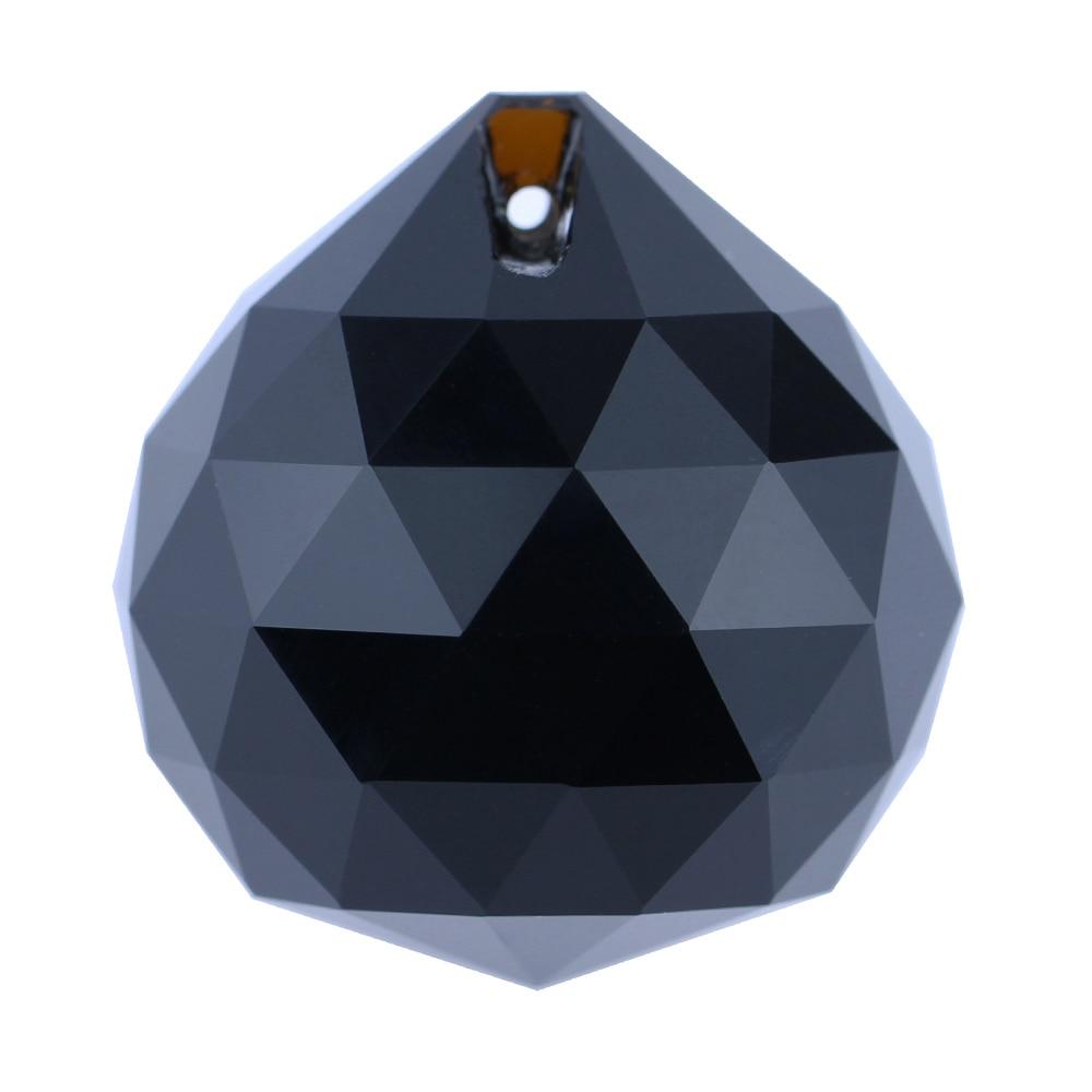 20mm 10pcs/lot Jet Black Crystals Lighting Pendant Balls Chandelier Parts  Prisms For Wedding Decoration