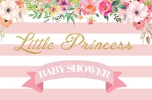 Laeacco Flowers Pink Stripes Princess Baby Newborn Photography Background Customized Photographic Backdrop For Photo Studio