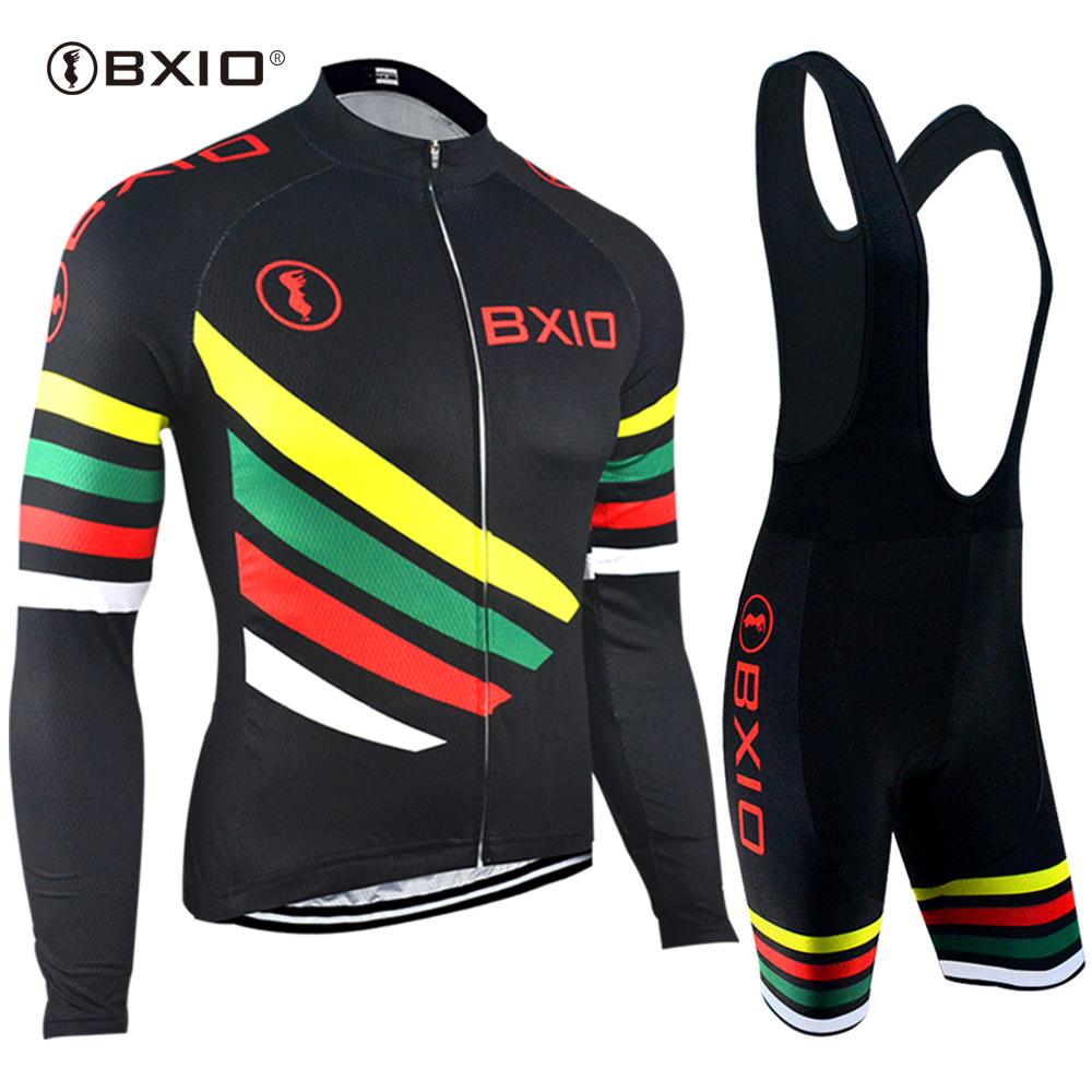 EU Brand BXIO Cycling Jerseys Long Sleeves Ropa Equipo 5D Gel Pad Bicycle Clothing Top Pro Team Bike Jersey Maillot Ciclismo 108 new team teleyi cycling jerseys 2017 short sleeves summer breathable cycling clothing pro mtb bike jerseys ropa ciclismo