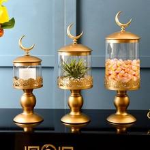 Nordic Storage Crystal glass bottle Creative Candy Jar Sugar Pot desktop Furnishing Article Multi-use Home Wedding Decoration
