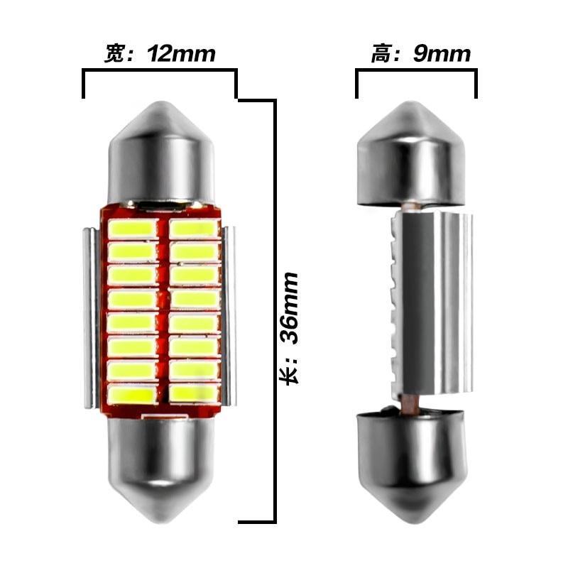 Гирлянда 31 мм 36 мм 39 мм 42 мм светодиодный светильник C5W C10W супер яркий 4014 SMD Canbus без ошибок авто Интерьер Doom лампа автомобильный Стайлинг светильник