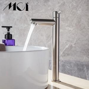 Image 3 - 304 ステンレス鋼単一のコールド迅速オープンタイプキッチン & 洗面台の蛇口錆や耐食性浴室シンク水タップ