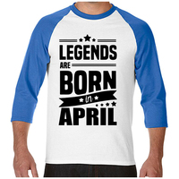 Novelty Legends Are Born In April Funny Birthday Gift Men S Cotton T Shirt Man Cool