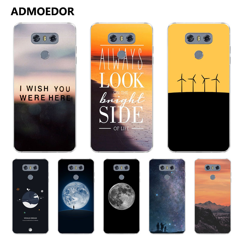 LG g5 Case,Silicon scenery Painting Soft TPU Back Cover for LG g6 Phone fitted Case shell
