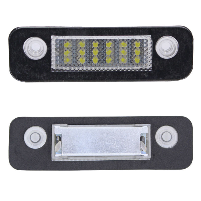 2017  2 LED License Number Plate Light Lamp ST for Ford Fiesta MK5 5 Fusion Mondeo MK2 car led license plate lights 12v for ford mondeo mk2 fiesta fusion accessories no error white smd led number plate lamp bulb kit