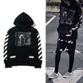 OFF WHITE Hoodie Men 1:1High Quality Religious Striped Printed Sweatshirt Kanye West Streetwear Justin Bieber OFF WHITE Hoodies