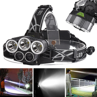 New Hot 3x XM L T6 2 X XPE Blue Or White LED Rechargeable Headlamp Aluminum