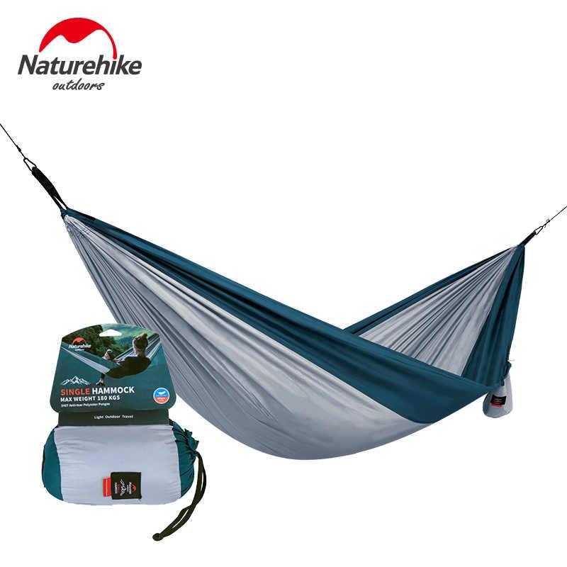 Naturehike tek ve çift kamp hamak hafif taşınabilir hamak sırt çantası kamp seyahat için plaj Yard