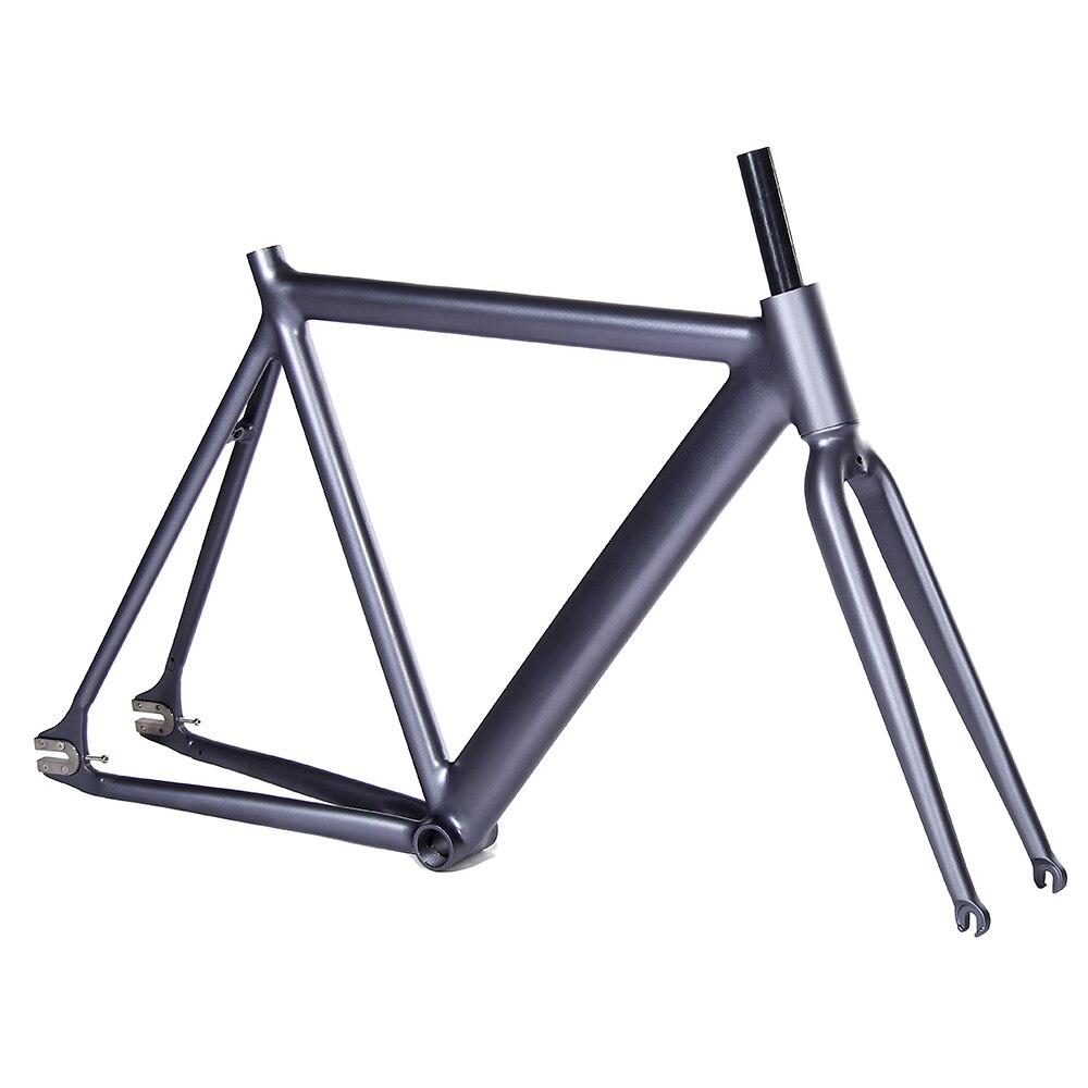 700C fahrradrahmen 54 cm matte schwarz Glatten Schweiß Bahnrad ...