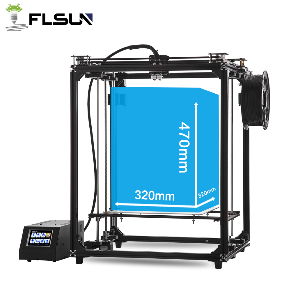 2018 Flsun newest 3D Printer Large Printing Area 320*320*460mm Dual Extruder Touch Screen Wifi Moduel 2 rolls filament Gift 2018 flsun i3 3d printer diy kit dual nozzle touch screen large printing size 300 300 420mm two roll filament for gift