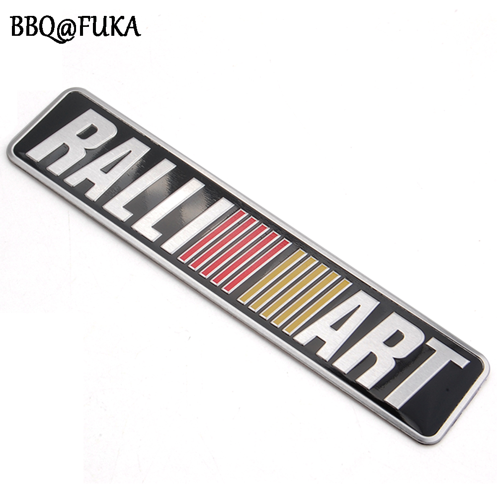 RALLIART Racing Emblem Badge Sticker Trunk Aluminum Black Decal Car-styling Fit For Mitsubishi Lancer EVO Auto Decor Accessories