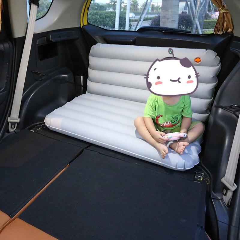 Otomobiller ve Motosikletler'ten Araba Seyahat Yatağı'de 100*53*10 cm Şişme Araba Yatak Taşınabilir Açık Seyahat Kamp hava yatağı Katlanabilir Bagaj Yastık çocuklar için araba Yatak title=