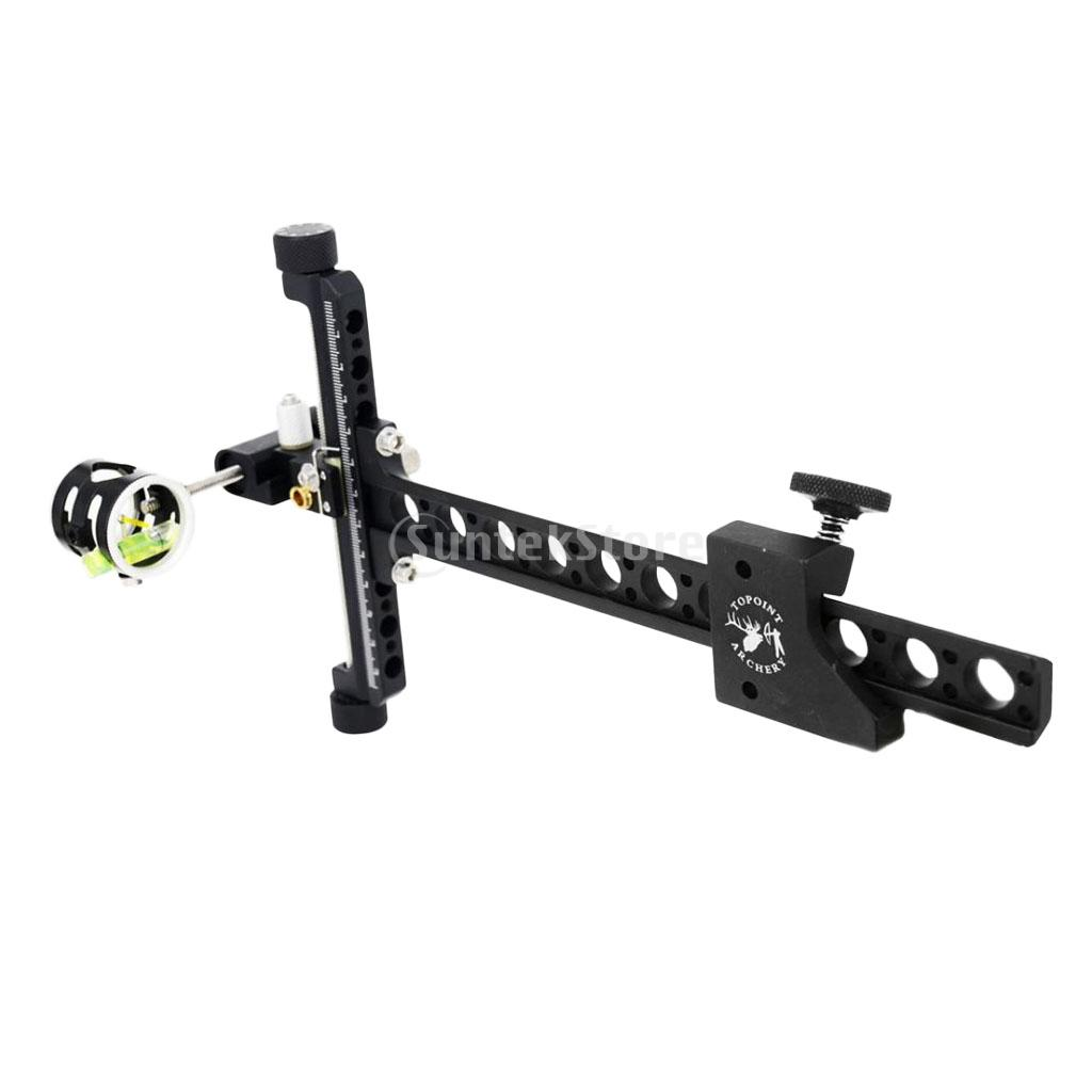 цена на 1-Pin 4x CNC Processing Aluminum Alloy Archery Compound Bow Sight With Micro Adjustable Long Pole