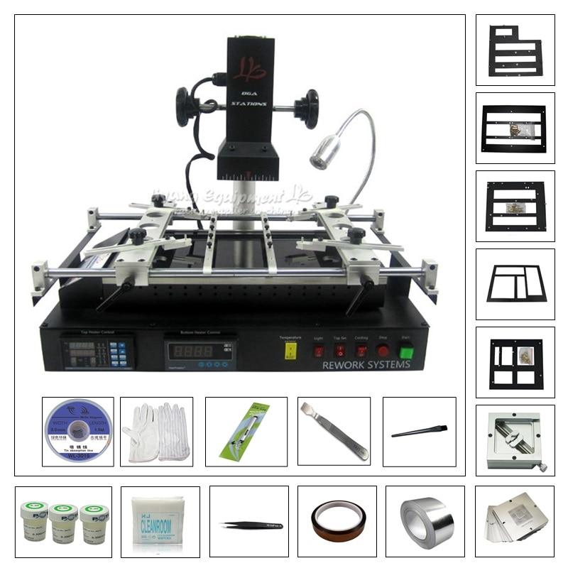 LY IR8500 IR BGA Soldering Station Reballing Kit BGA Repair Rework Machine with 23pcs 80MM/90MM Game Console BGA Stencil kit ly m770 infrared bga rework station 220v with bga reballing kit 184pcs 80 90mm bga stencils