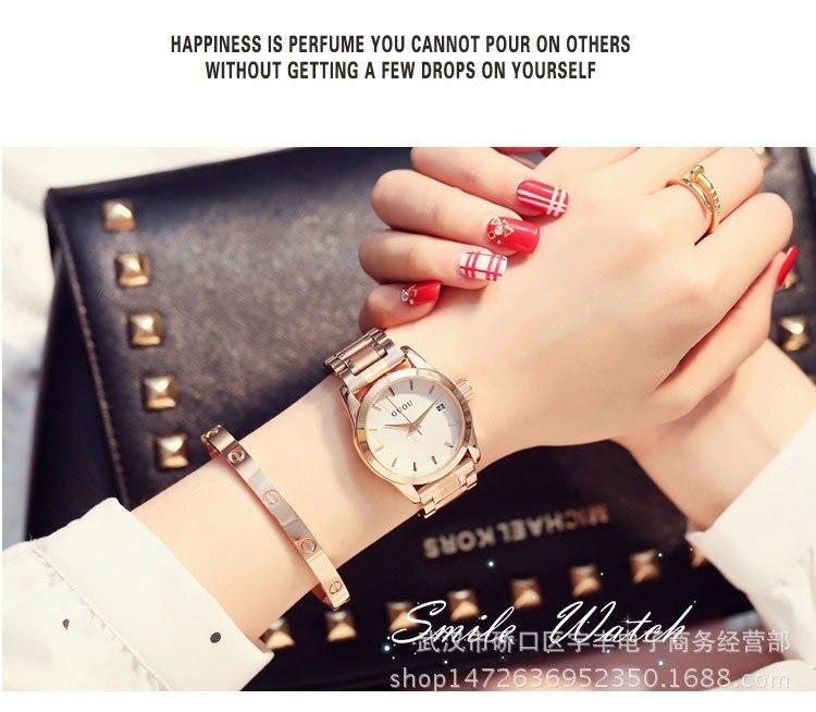 de Negócios Assista Rose Gold Bracelet Watch