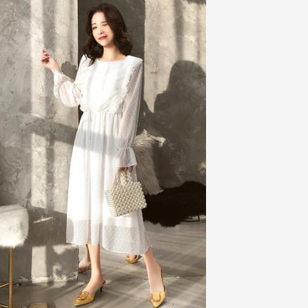 2019 Snow White Fresh Rejuvenating Women Sweet Medium And Long-length Slimming Dress Fairy Summer Dress Lj316