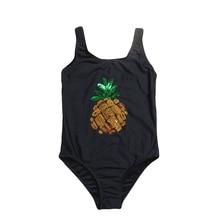2019 Girls Swimwear One Piece Children Swimsuits Pineapple Girls Swimming Suits 2019 Summer Bathing Suits Beachwear G1-K517