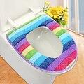 Jogo do banheiro colorido cover set higiênico tampa de assento do tapete de banho wc titular tampa tampa de assento do Vaso Sanitário almofada closestool ZH01082