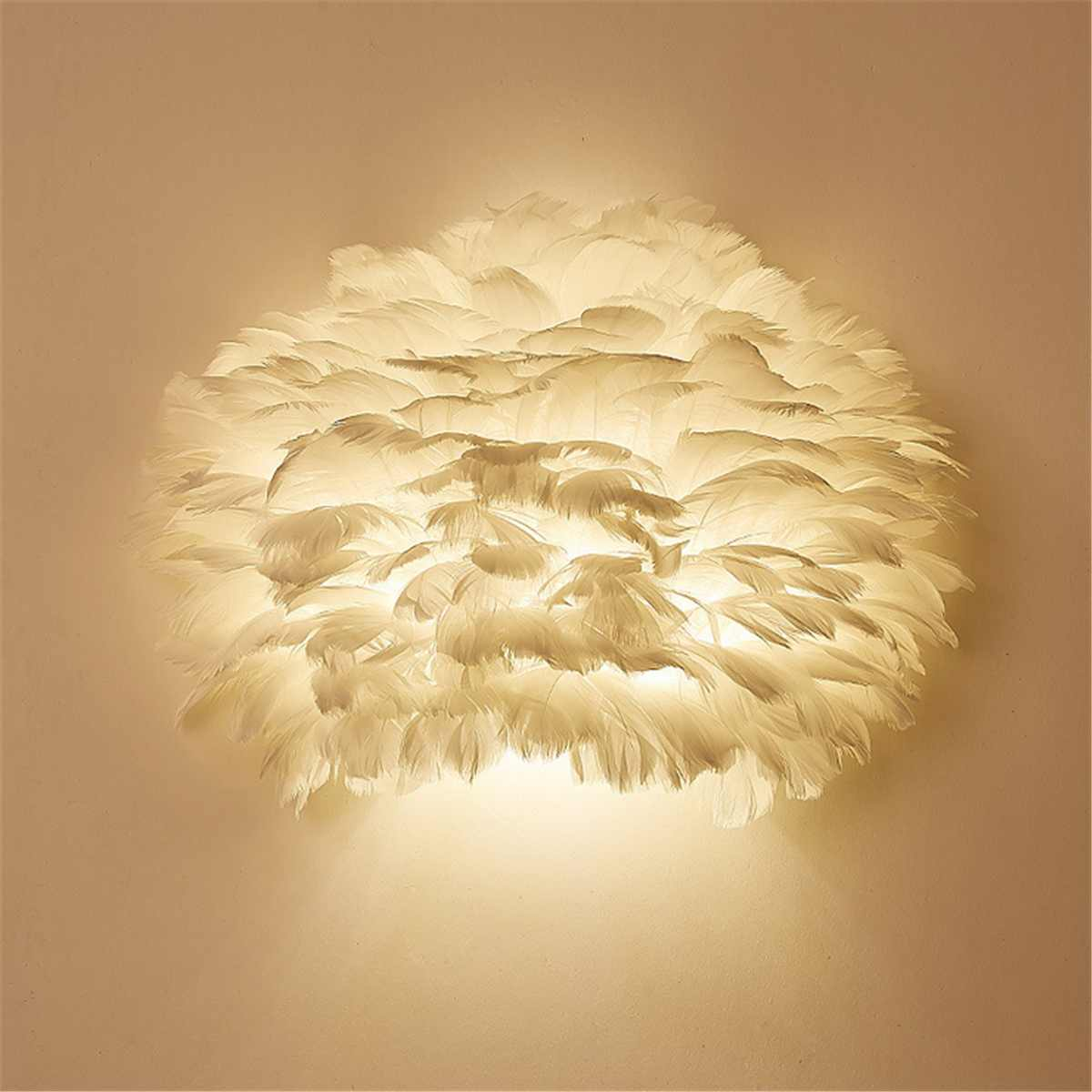 Thrisdar Nordic Feather LED Wall Lamps With E27 Base Bedroom Bedside Creatives Wall Light Hotel Restuarant Corridor Wall LightThrisdar Nordic Feather LED Wall Lamps With E27 Base Bedroom Bedside Creatives Wall Light Hotel Restuarant Corridor Wall Light