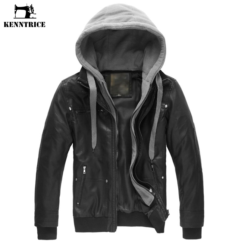 Aliexpress.com : Buy KENNTRICE Leather Jacket Male Motorcycle ...
