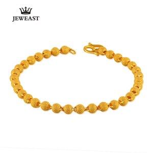 Image 4 - BBB 24K czystego złota bransoletka kobieta moda biżuteria koraliki do paznokci bransoletka złoty piasek Transport bransoletka dla kobiety Party prezent grzywny