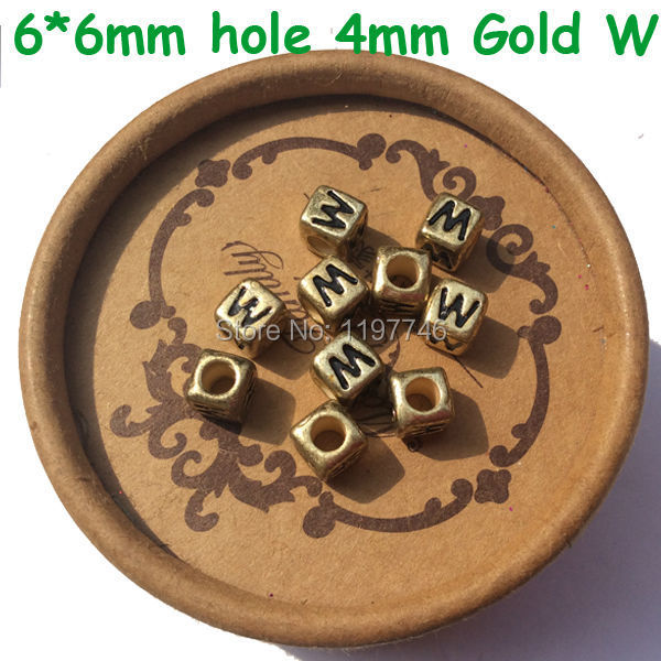 Wholesale 2750pcs Cube Gold Color Acrylic Letter Beads 6*6mm Plastic Single Letter R Printing Alphabet Name Bracelet Beads Top Watermelons Beads Jewelry & Accessories