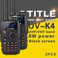 (2 pcs) preto protable rádio ksun uv-k4 dual band vhf uhf dois sentidos rádio para baofeng uv-5r/baofeng uv-82 walkie talkie