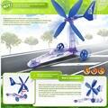 Nova Energia Verde Removível Windmill Plane Brinquedos Montados, Construir O Seu Próprio Carro Movido A Vento Meninos Mais Velhos Kit Ciências Da Educação brinquedos