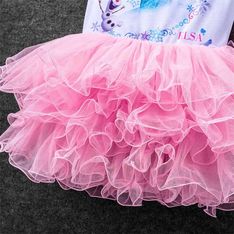 Disney Frozen/Новинка 2020 года; костюмы Эльзы для девочек; детская пачка для костюмированной вечеринки; платье принцессы Анны Эльзы; vestidos infants; для детей