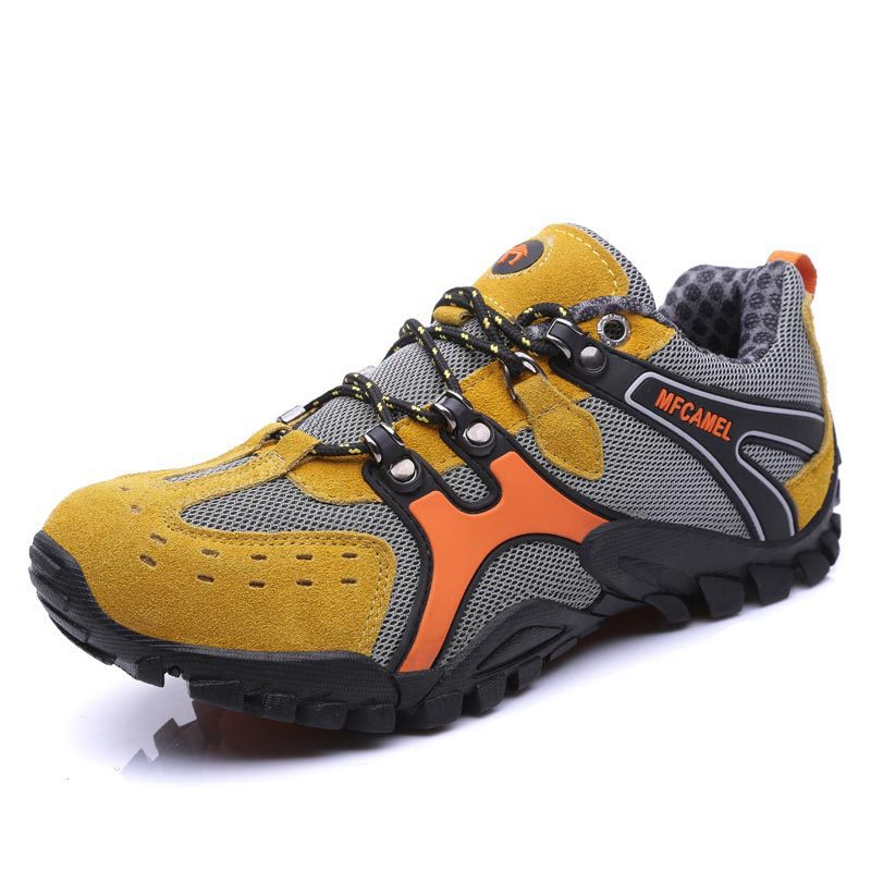 Hiking Shoes Leather Anti-skid Wear-resistant Breathable Off-road Outdoor Sports Leisure kelme 2016 new children sport running shoes football boots synthetic leather broken nail kids skid wearable shoes breathable 49
