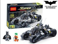 325Pcs Batman The Tumbler Batmobile Joker Super Heroes DC Building Blocks Marvel Set Toy Figure Lepin