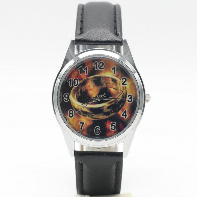 Cool Men Watch Fashion Quartz Leather Clock The Lord of the Rings Casual Wrist W