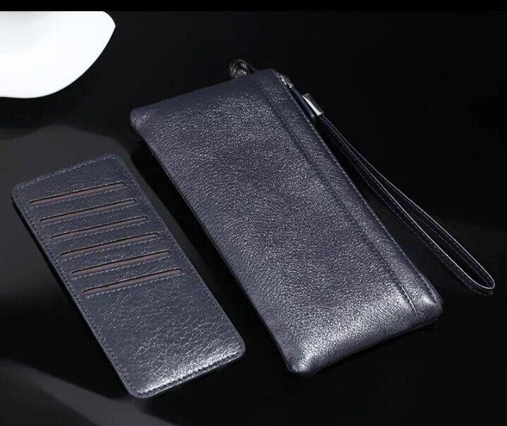 Pochette en cuir de vachette véritable pour téléphone Galaxy A80 A70 A60 A40 A20 A10, zoom Oppo Reno 10x, Realme 1 3 2 Pro U1 C2 C1