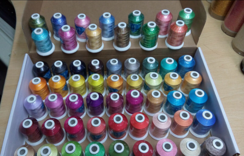 Hot Selling 120D/2 40WT 1000m/cone  Polyester Home Machine Embroidery Thread With 5 Glow In The Dark Thread/kit +Free Shipping!!