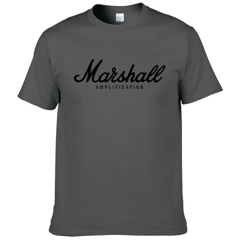 100% cotton Marshall T Shirt men short sleeves tee hip hop street wear for fans hipster 39