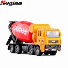 Modelo de liga de carro misturador de cimento transporte caminhão metal kdw menino brinquedo ornamentos 1:72 simulação caminhão modelo brinquedos presentes de natal