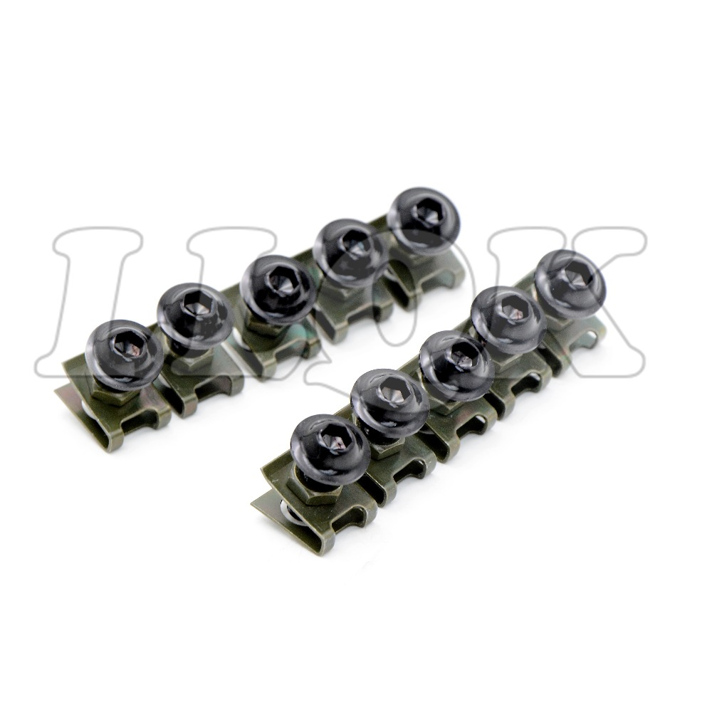 10pcs 6mm CNC Motorcycle Fairing body work Bolts Screws for For HONDA CBR600RR CBR 600 RR 07 08 09 10 11 12 13 14 F5 ducati 999